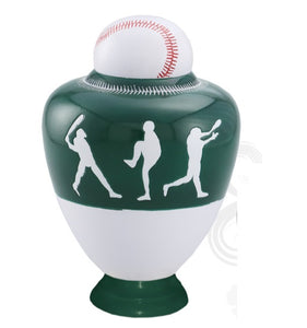 Infinity Baseball Team Cremation Urn - Green - IUSP110-G
