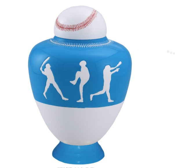 Infinity Baseball Team Cremation Urn - Light Blue - IUSP110-LB