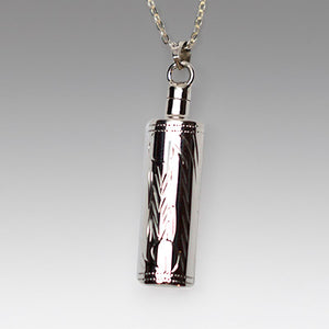 Silver Etched Cylinder Jewelry- IUSPN114