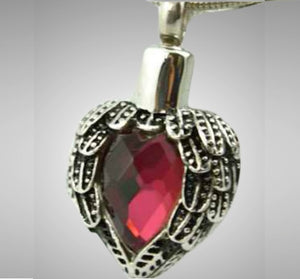 Silver Red Heart Jewelry- IUSPN119