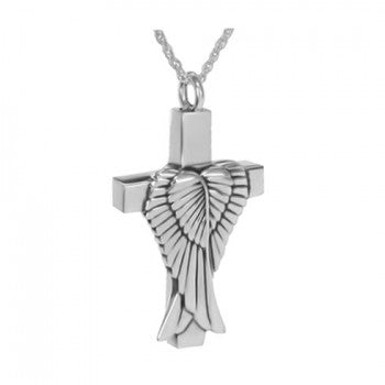 Silver Wings on the Cross Pendant - IUSPN122