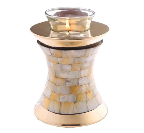 Mother of Pearl Tealight Cremation Urn- IUTL112