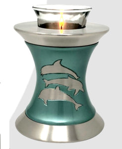 Solace Dolphins Tealight Cremation Urn - IUTL121