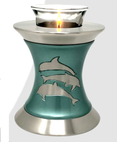 Solace Dolphins Tealight Cremation Urn- IUTL121