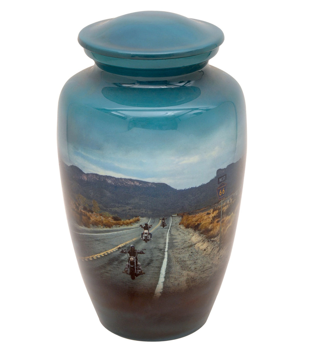 Motorcycle Rider Theme Cremation Urn - IUTM101