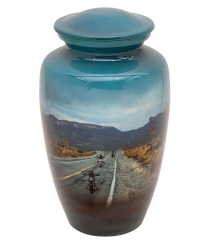 Motorcycle Rider Theme Cremation Urn- IUTM101