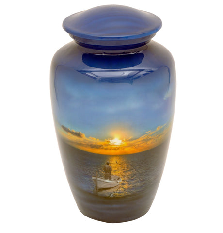 Fisherman Theme Cremation Urn - IUTM107