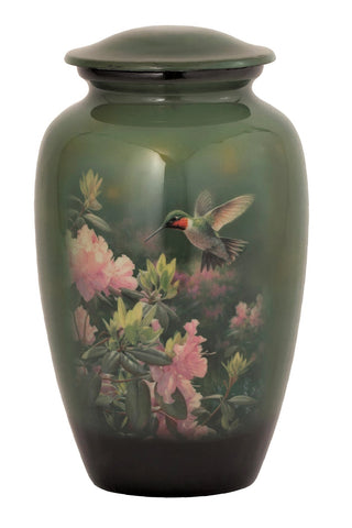 Hummingbird Theme Cremation Urn - IUTM110
