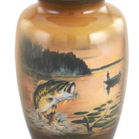 Jumping Bass Theme Cremation Urn - IUTM111