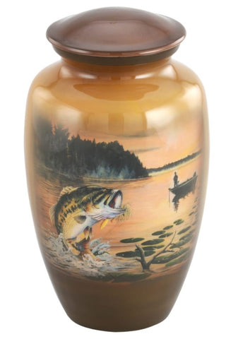 Jumping Bass Theme Cremation Urn- IUTM111