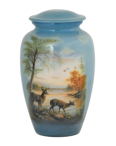 Quiet Evening Theme Cremation Urn- IUTM115