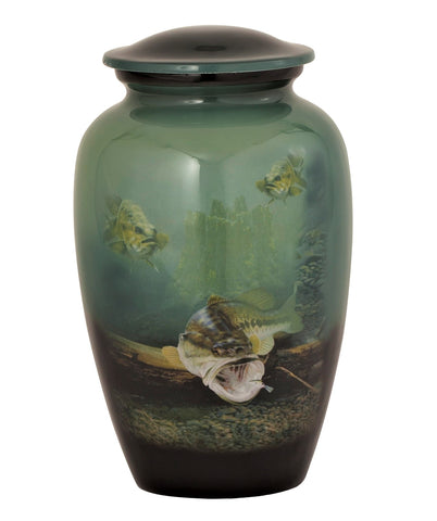 Underwater Bass Theme Cremation Urn- IUTM117
