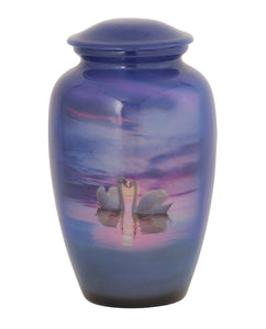 Loving Swans Theme Cremation Urn - IUTM118