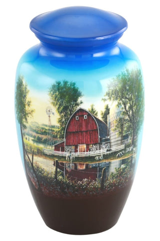 Homestead Theme Cremation Urn- IUTM121