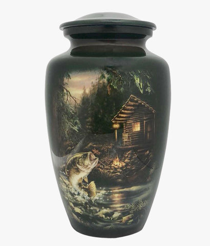 Gone Fishing Theme Cremation Urn - IUTM130