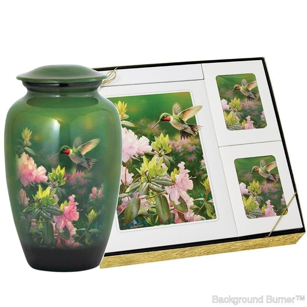 Theme Hummingbird - Urn & Stationary Box Set - IUTM110 SET