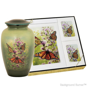 Theme Butterfly - Urn & Stationary Box Set - IUTM116-SET
