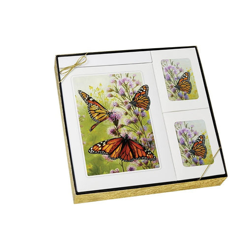Theme Butterfly - Urn & Stationary Box Set - IUTM116 SET