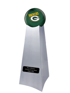 Championship Trophy Urn Base with Optional Green bay Packers Team Sphere