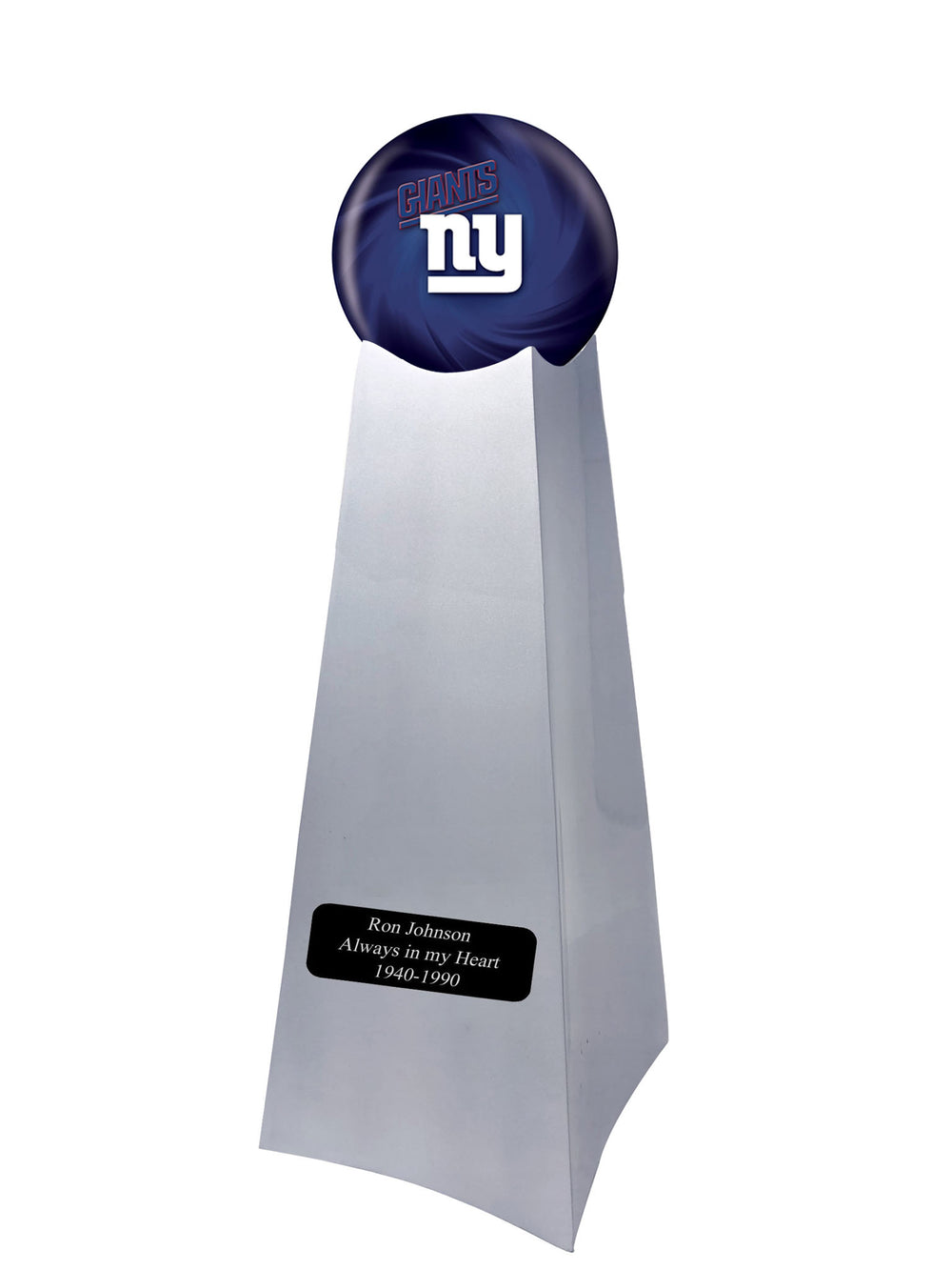 Championship Trophy Urn Base with Optional New York Giants Team Sphere