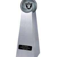 Championship Trophy Urn Base with Optional Oakland Raiders Team Sphere