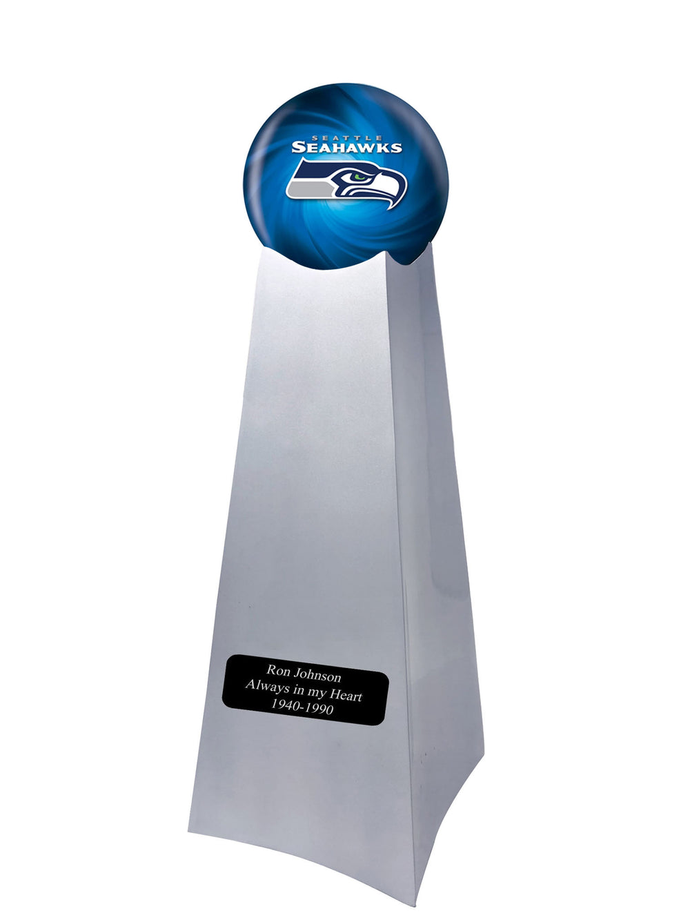 Championship Trophy Urn Base with Optional Seattle Seahawks Team Sphere