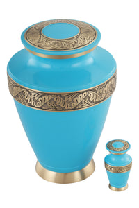 Regalon Cremation Urn with free keepsake - Ocean Blue - Overstock Deal