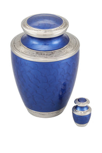 Adorn Cremation Urn with free keepsake - Blue - Overstock Deal