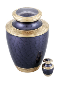 Adorn Cremation Urn with free keepsake - Purple - Overstock Deal