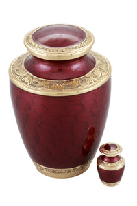 Adorn Cremation Urn- Red with free keepsake - Overstock Deal
