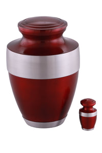 Sparta Cremation Urn with free keepsake - Red - Overstock Deal