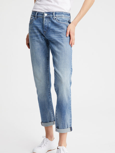 Denham Monroe Mid W's Jeans Girlfriend Fit blue (light fade & whishers)