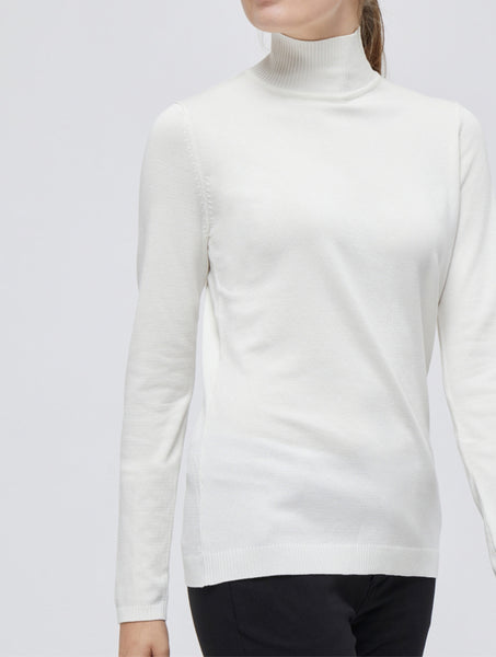 Minus Lana Roll Neck knitted Pullover broken white