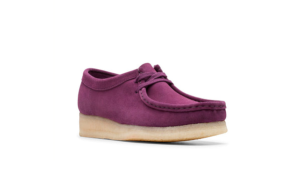 Clarks Originals Wallabee wms deep purple suede