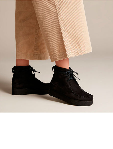 Clarks Originals Wallabee Craft wms black nubuck