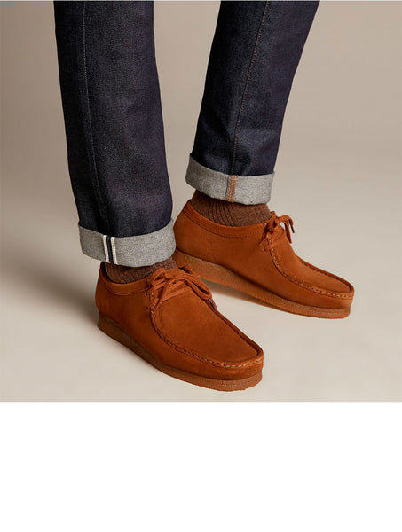 Clarks Originals Wallabee cola (cognac) suede