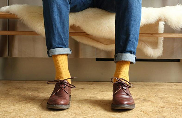 Escuyer Cashmere socks yellow