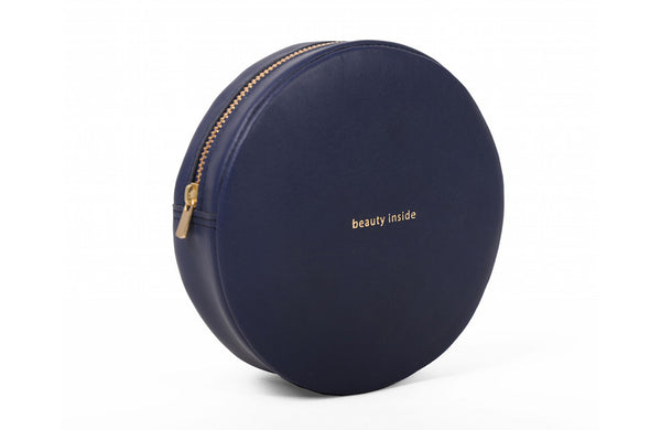 byB&K Bag round darkblue BEAUTY INSIDE and dark blue zipper