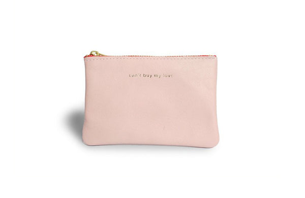 byB&K Etui xs pink red zipper CAN'T BUY MY LOVE