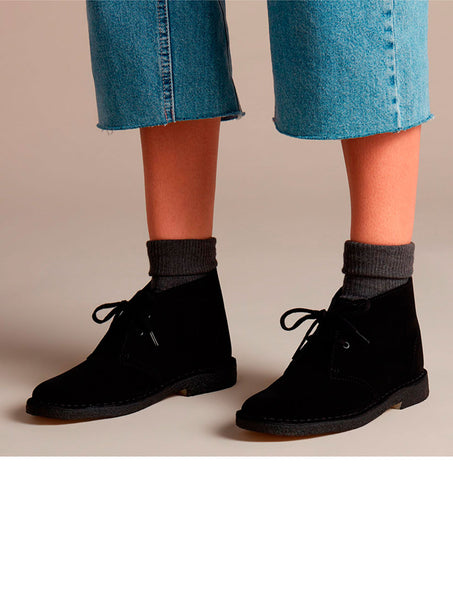 Clarks Originals Desert Boot wms black suede
