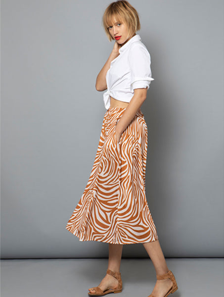 marivie Shake it! Skirt zebra stripes camel MA10035