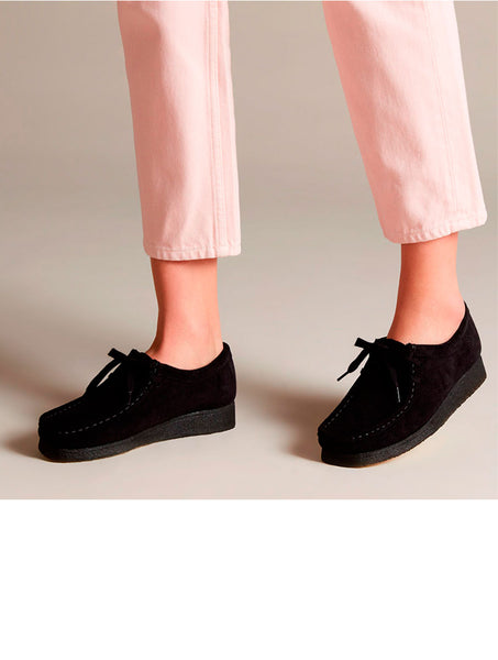 Clarks Originals Wallabee black suede wmns