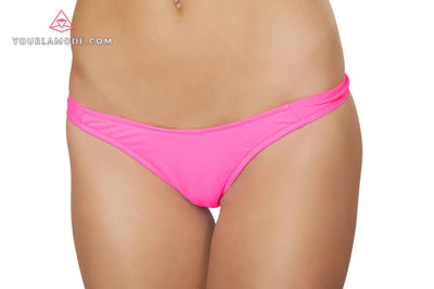Hot Pink Tricot thong - J Valentine, Rave Costume - YourLamode - 1