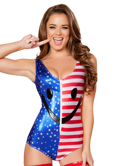 Happy Fourth of July Flag Romper - Romper, Roma Costume, YourLamode