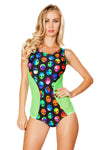 Aliens Two Tone Bodysuit with Sheer Detail - Rave Bodysuits & One Pieces, Roma - YourLamode