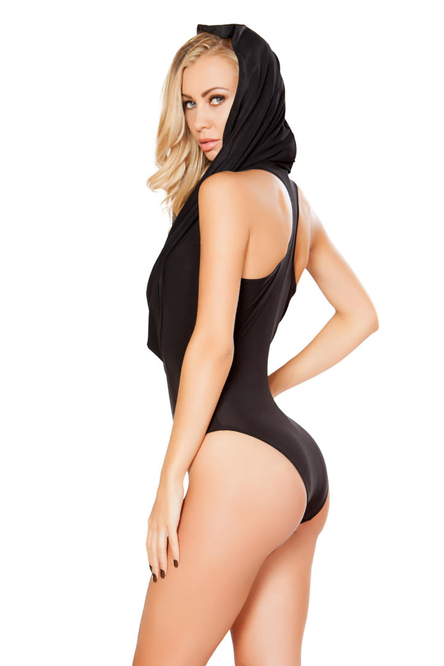 Roma Costume Hooded Bodysuit with Slimmed