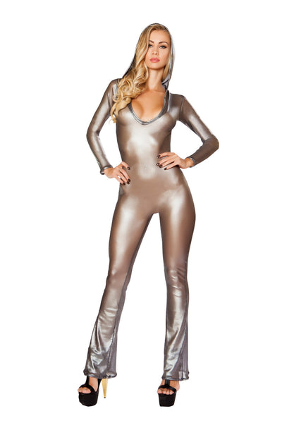 Hooded Fishnet Catsuit - Roma Costume, Hooded Fishnet Catsuit - YourLamode - 1