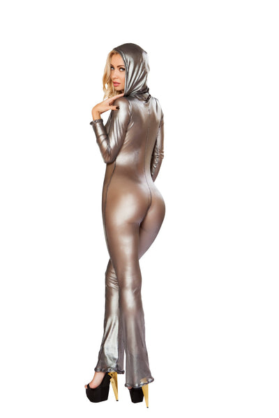 Hooded Fishnet Catsuit - Roma Costume, Hooded Fishnet Catsuit - YourLamode - 2