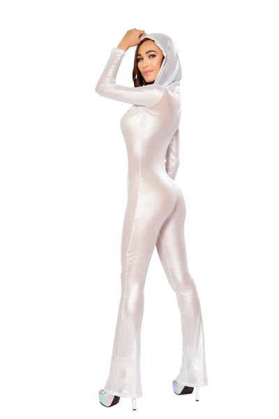 Hooded Fishnet Catsuit - Roma Costume, Hooded Fishnet Catsuit - YourLamode - 4