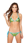Sea Foam Green 2pc Tie Side Pucker Back Plurmaid Bikini Set - Roma Costume, Plurmaid Bikini Set - YourLamode